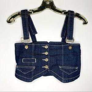 SALE 💚 Denim Jeans Crop Top